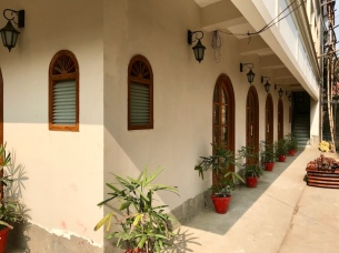 The ground floor of the guest house.