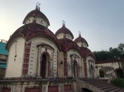 Three Shiva temples on the left