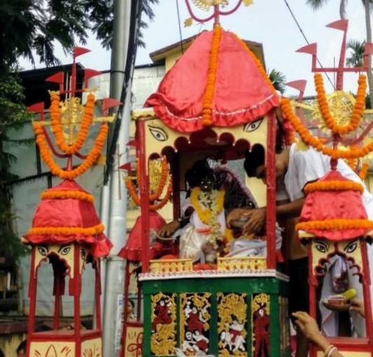 Rathayatra in Akshay Tritiya at Telinipara, Bhardreswar,Hooghly