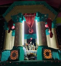 Radha Krishna inside rasmancha.